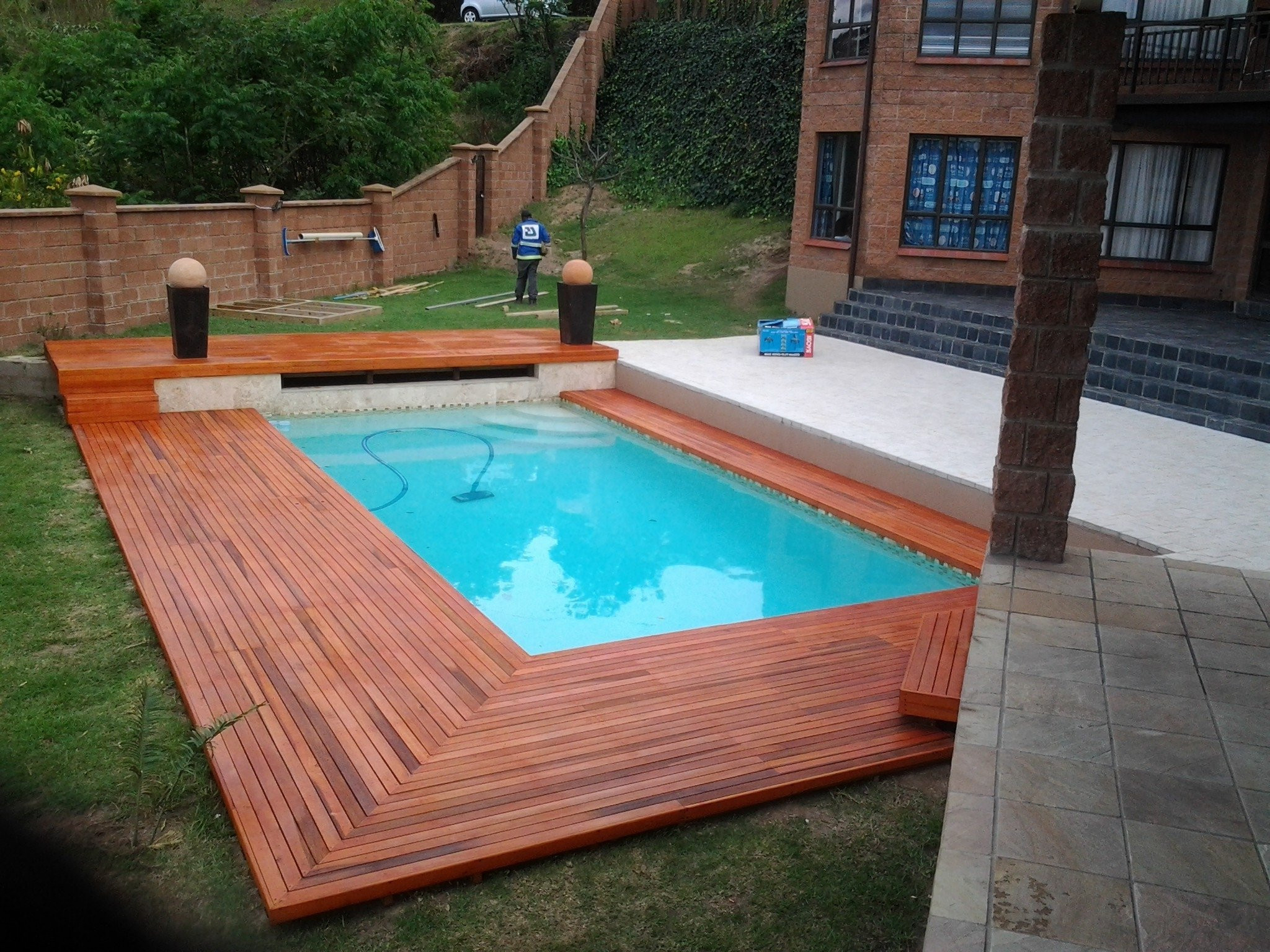 Best ideas about Inground Pool Deck . Save or Pin Reviews Semi Inground Pool Ideas And Accessories — The Now.