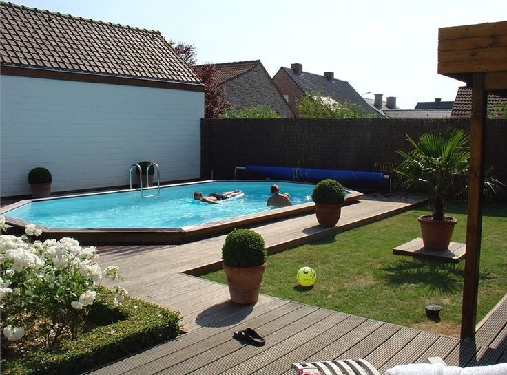 Best ideas about Inground Pool Deck . Save or Pin Best 25 Semi inground pools ideas on Pinterest Now.