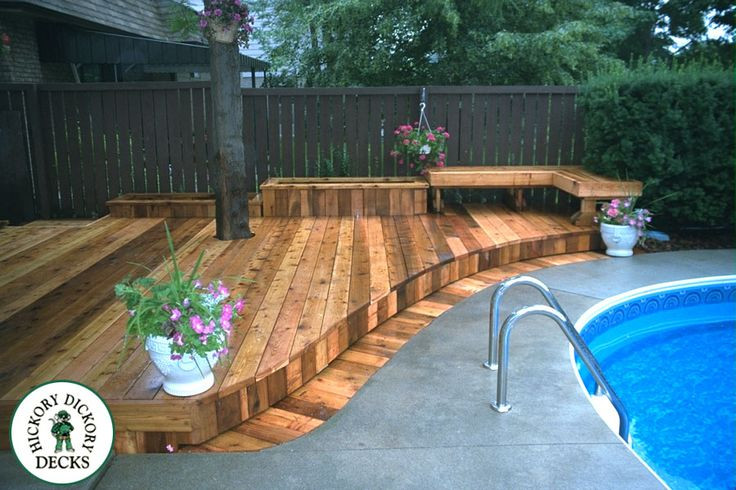 Best ideas about Inground Pool Deck . Save or Pin wood deck around inground pool Google Search Now.