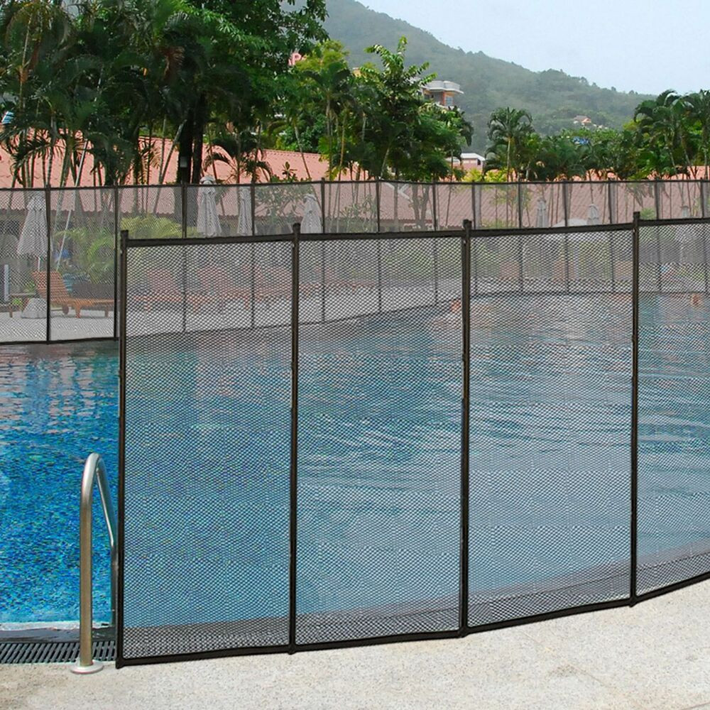 Best ideas about Inground Pool Safety Fence . Save or Pin 4 x12 In Ground Swimming Pool Safety Fence Section Now.