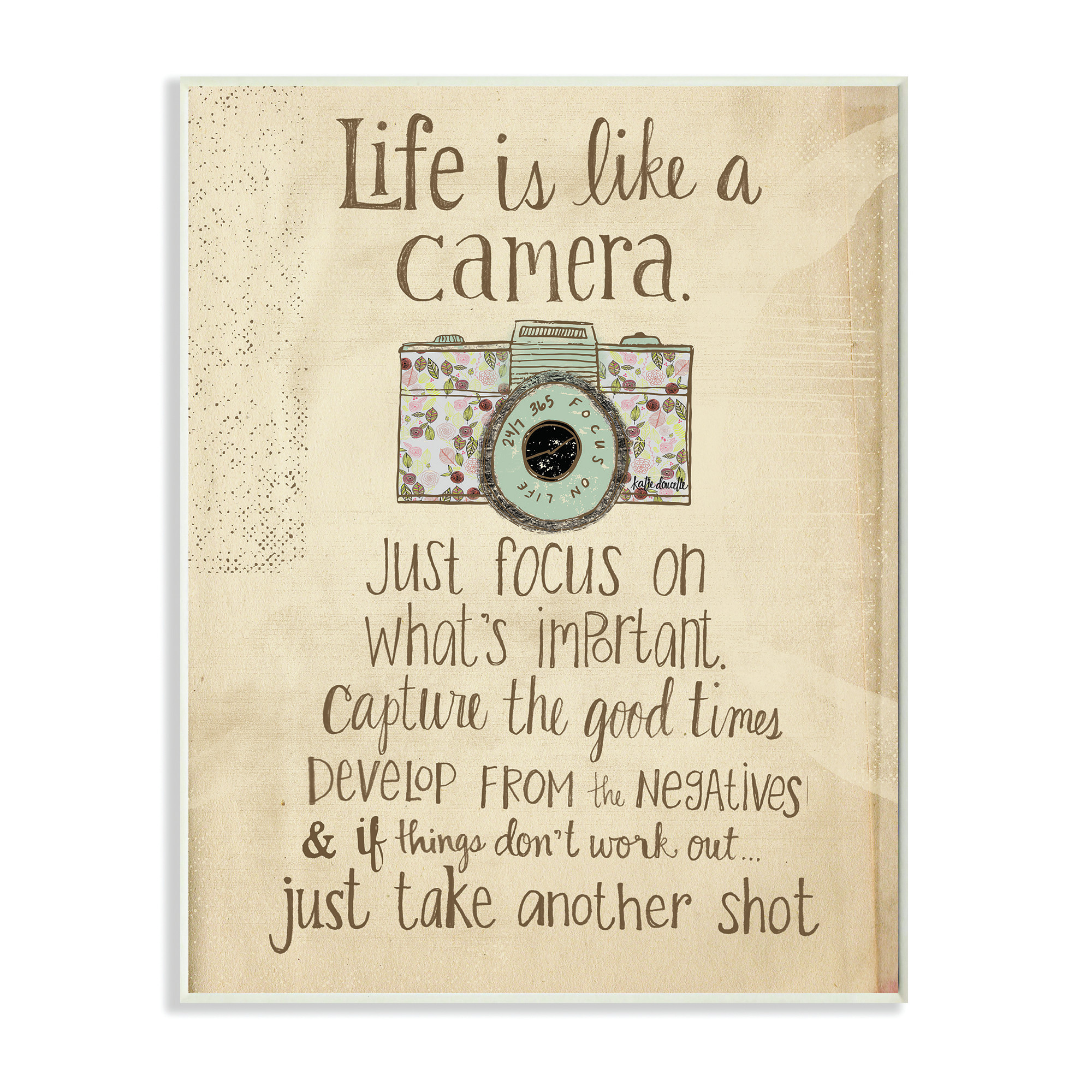 Best ideas about Inspirational Wall Art . Save or Pin Stupell Industries Life Is like a Camera Inspirational Now.