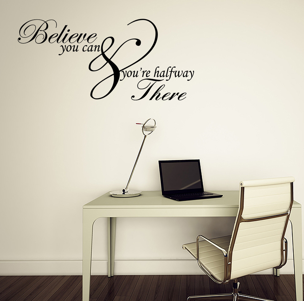 Best ideas about Inspirational Wall Art . Save or Pin Believe you can Inspirational Quote Vinyl Wall Art Sticker Now.