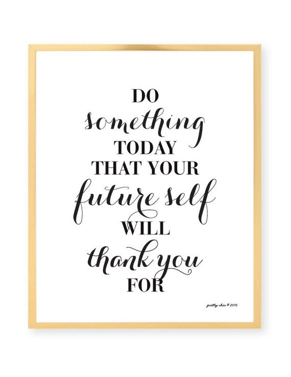 Best ideas about Inspirational Wall Art . Save or Pin Items similar to Do Something Today Art Print Now.