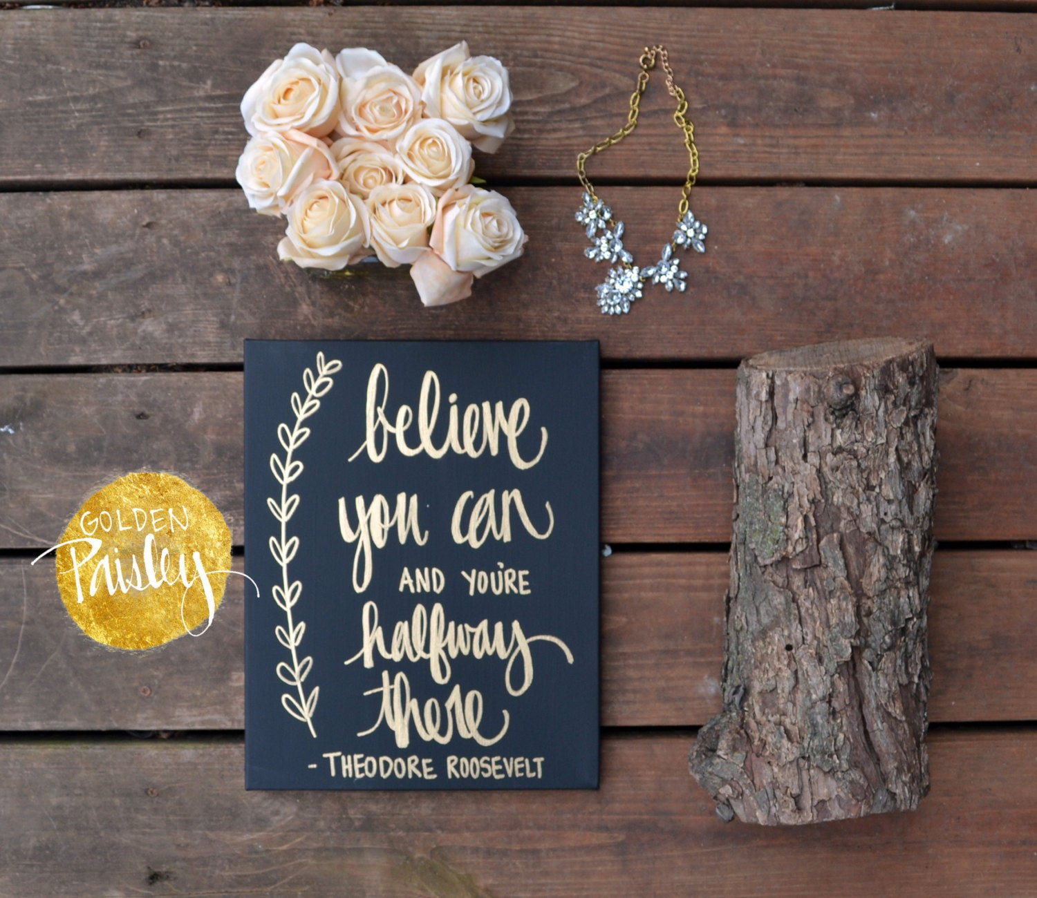 Best ideas about Inspirational Wall Art . Save or Pin Inspirational Art Canvas Painting Wall Decor Black & Gold Wall Now.