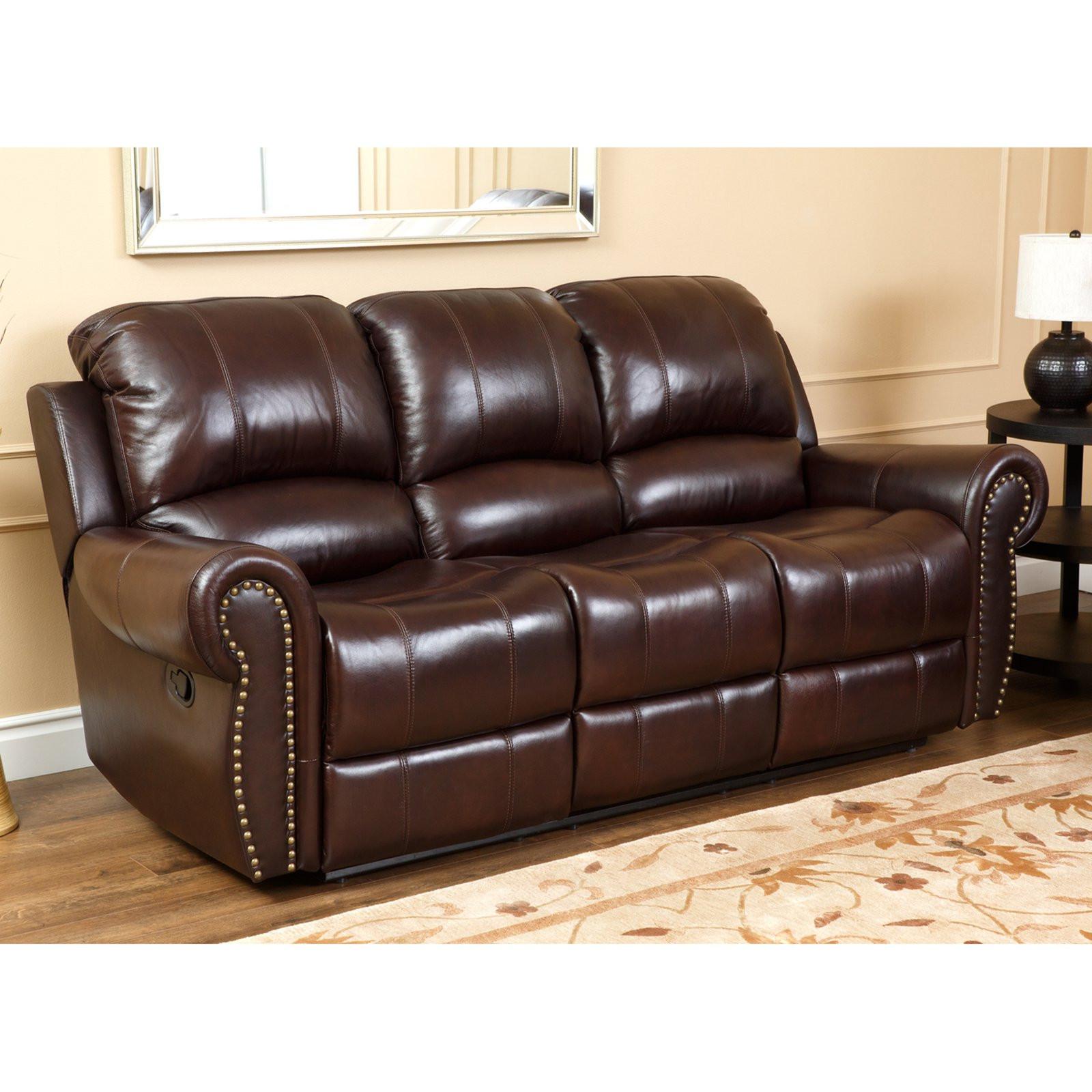 Best ideas about Italian Sofa Set . Save or Pin Abbyson Lexington Dark Burgundy Italian Leather Reclining Now.
