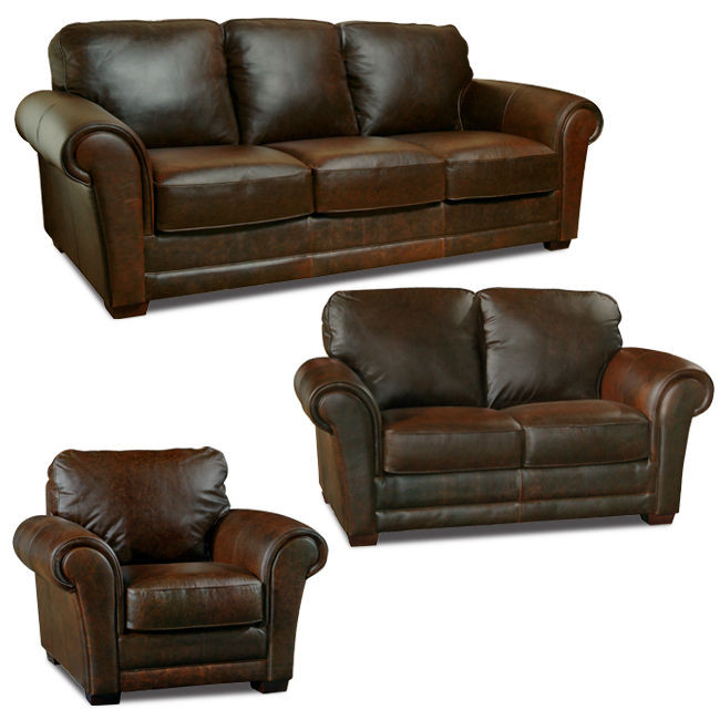 """Best ideas about Italian Sofa Set . Save or Pin Luke Leather """"Mark"""" Italian Leather Distressed Chocolate Now."""
