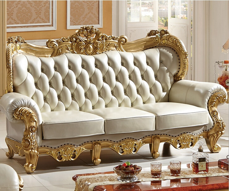 Best ideas about Italian Sofa Set . Save or Pin Carved solid wood and Italian leather sofa sets 9808 in Now.