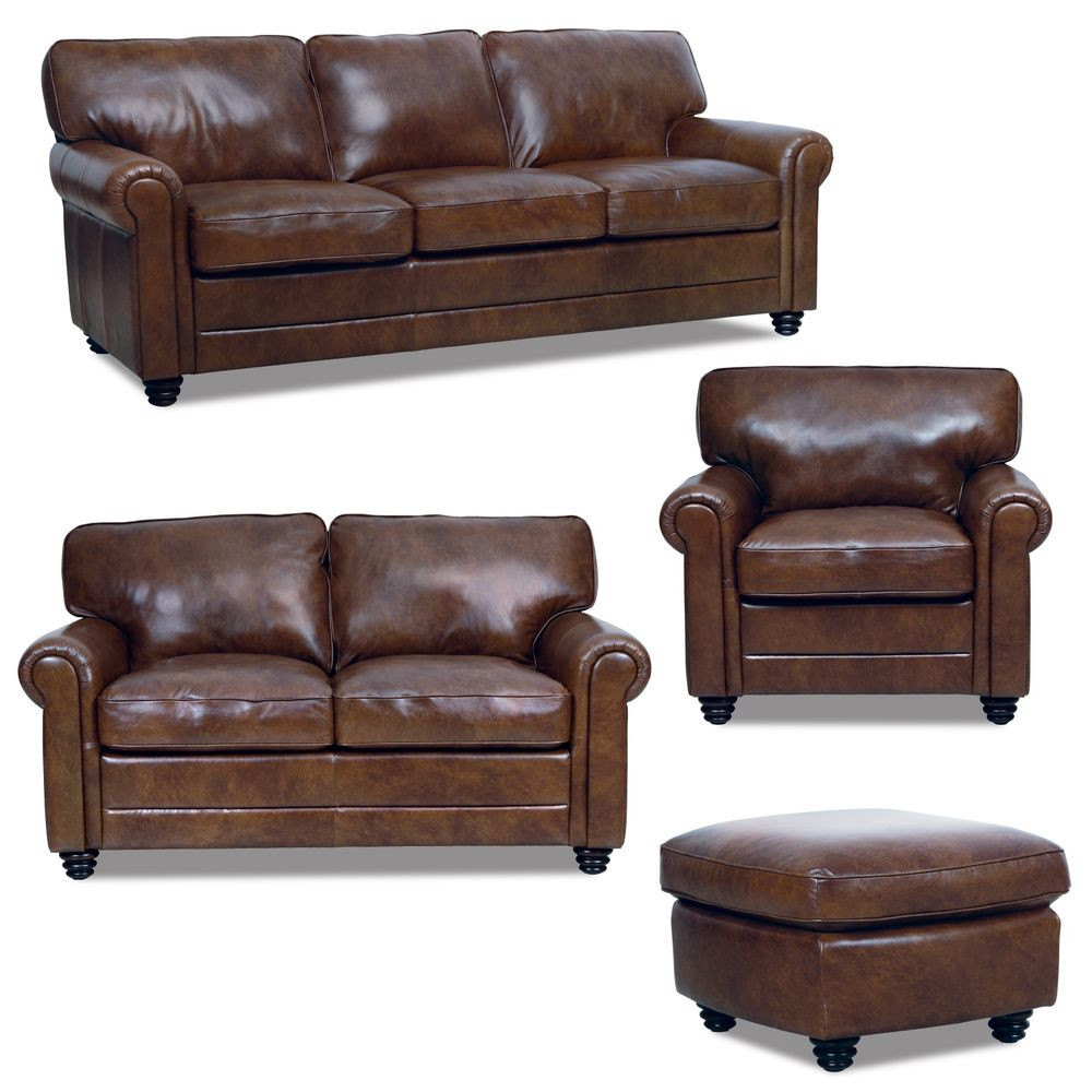 Best ideas about Italian Sofa Set . Save or Pin New Luke Leather Italian Brown Down Sofa Set Sofa Loveseat Now.