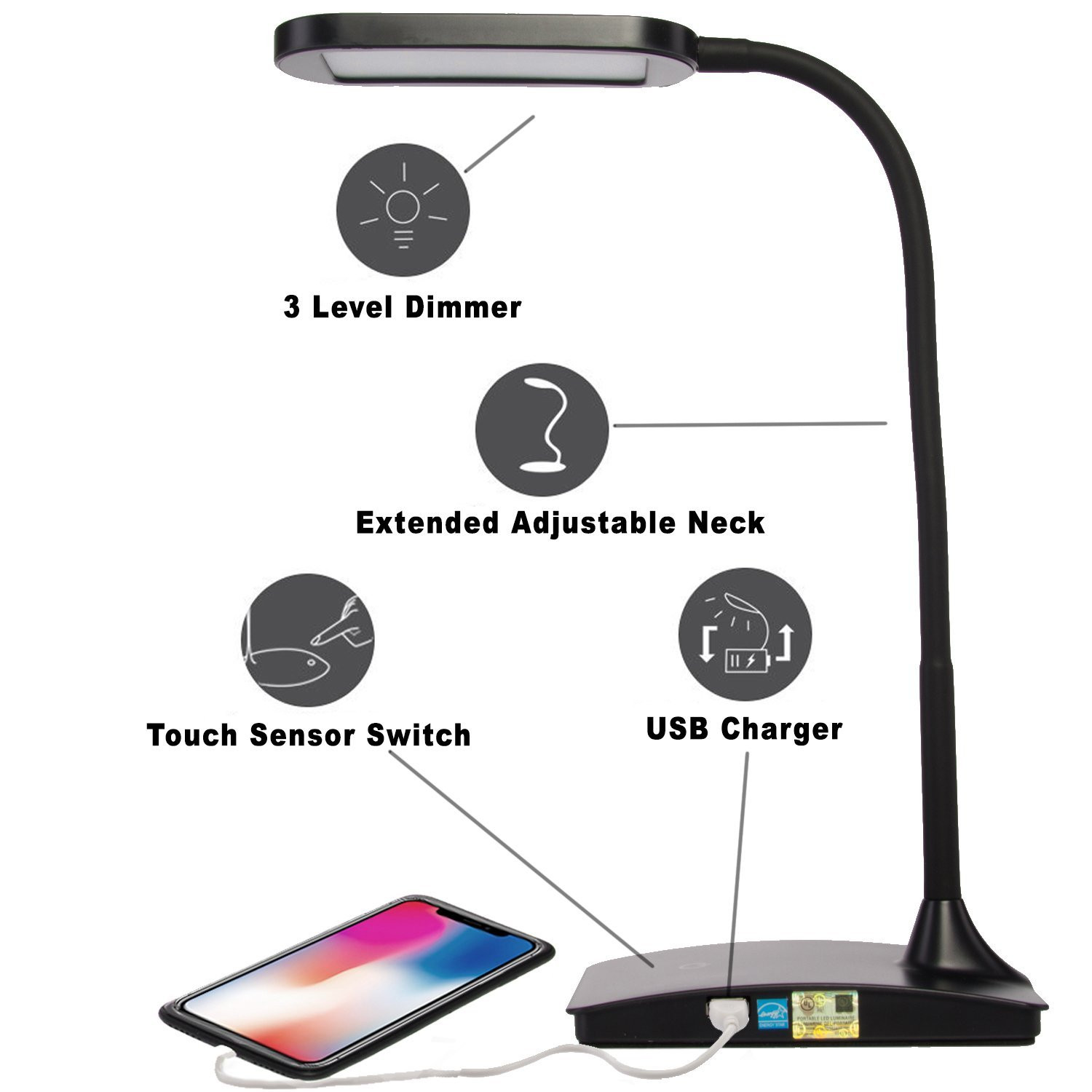 Best ideas about Ivy Led Usb Desk Lamp . Save or Pin TW Lighting Wholesale IVY 40WT LED Desk Lamp with USB Port Now.
