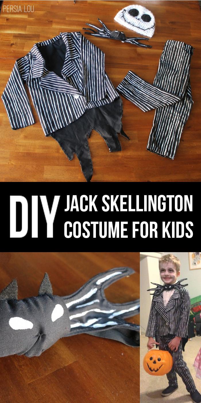 Best ideas about Jack Skellington DIY Costume . Save or Pin DIY Jack Skellington Kid's Costume Now.