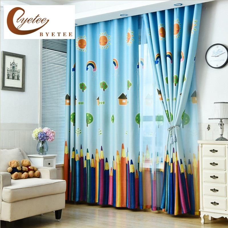 Best ideas about Kid Bedroom Curtain . Save or Pin [byetee] New Curtains Blackout Curtain Fabric Pencil Now.
