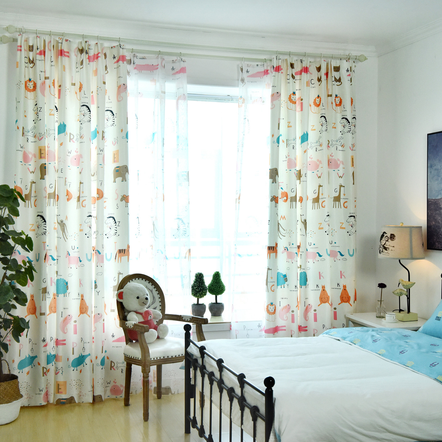 Best ideas about Kid Bedroom Curtain . Save or Pin Cartoon Alphabet Lion Animal Curtains For Kids Bedroom Now.