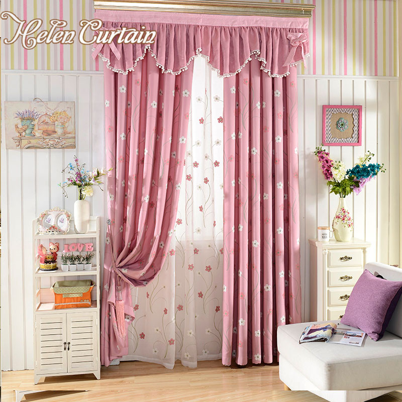 Best ideas about Kid Bedroom Curtain . Save or Pin Helen Curtain Pink Embroidered Flower Children Living Room Now.