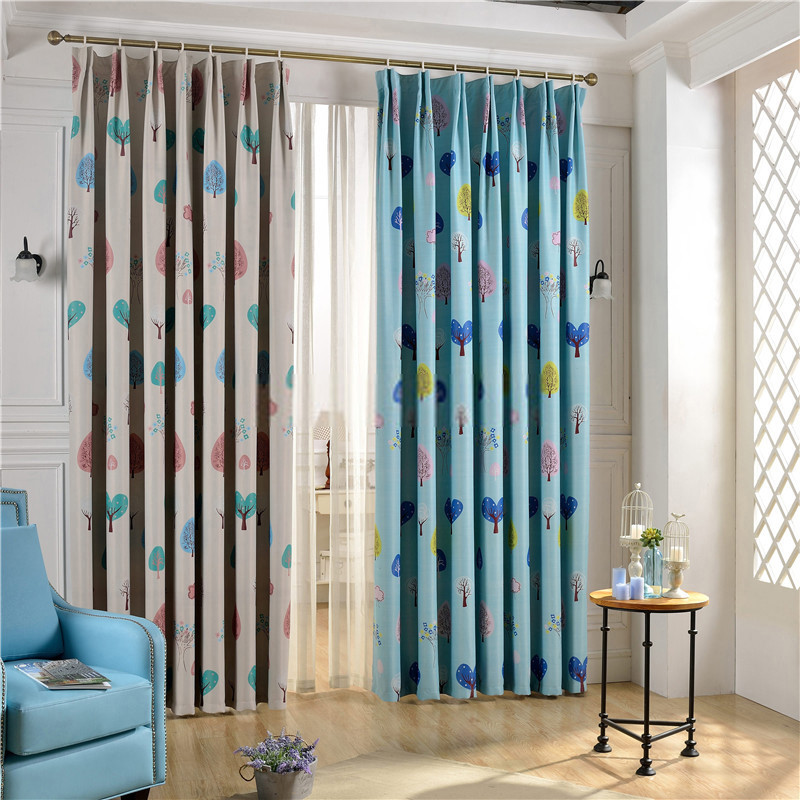 Best ideas about Kid Bedroom Curtain . Save or Pin Nursery room curtains of Tree Patterns for Kids Bedroom Now.