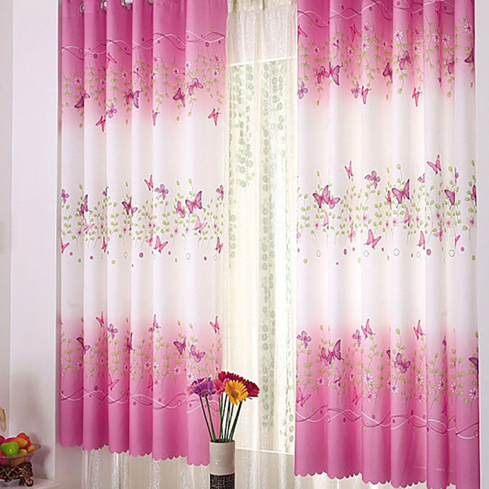 Best ideas about Kid Bedroom Curtain . Save or Pin Pink Butterfly Childrens Bedroom Finished Curtain Kids Now.