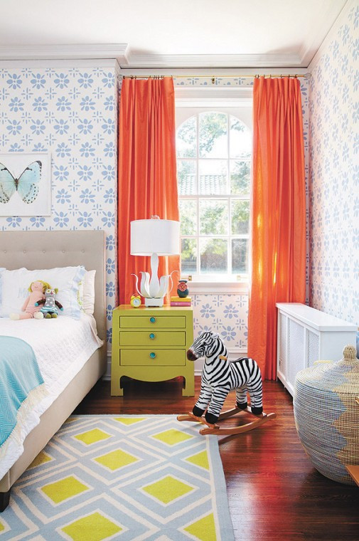 Best ideas about Kid Bedroom Curtain . Save or Pin 8 Happy Colorful Rooms The Inspired Room Now.