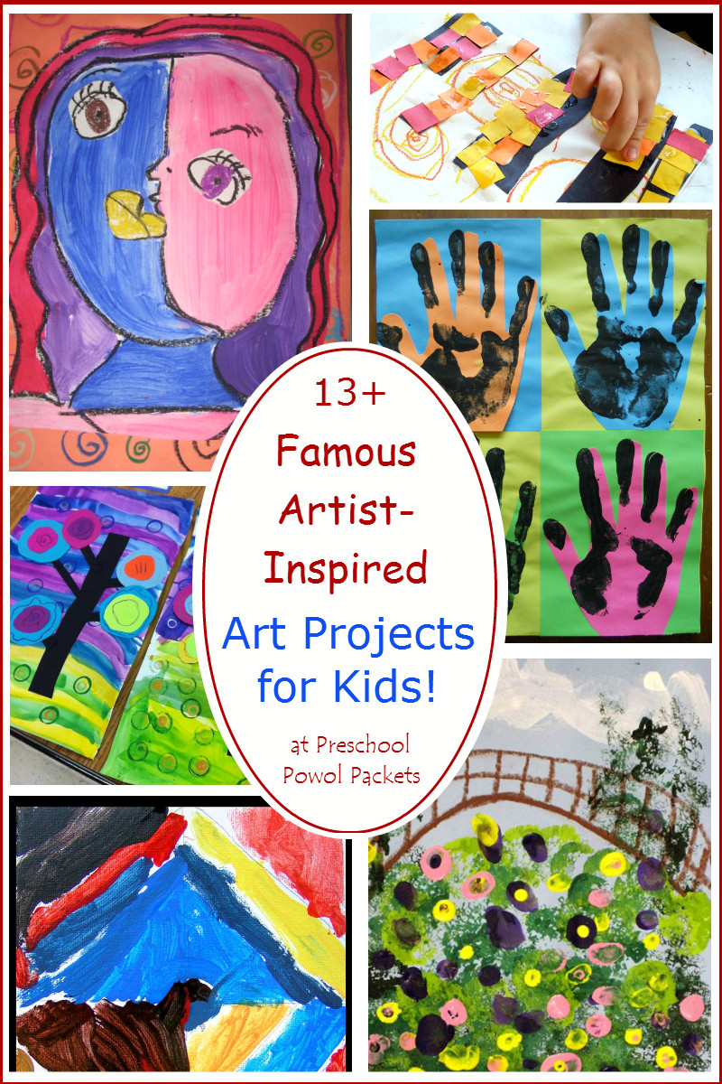 Best ideas about Kids Art Projects . Save or Pin 13 Famous Artists Inspired Art Projects for Kids Now.