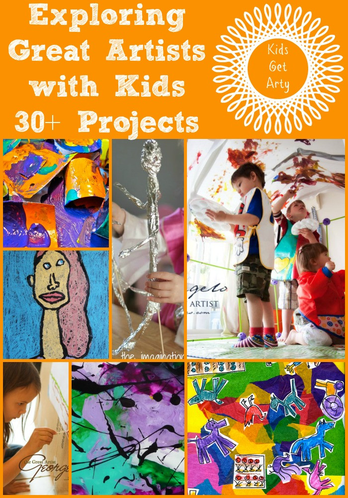 Best ideas about Kids Art Projects . Save or Pin 30 Art Projects for Kids looking at the Great Artists Now.