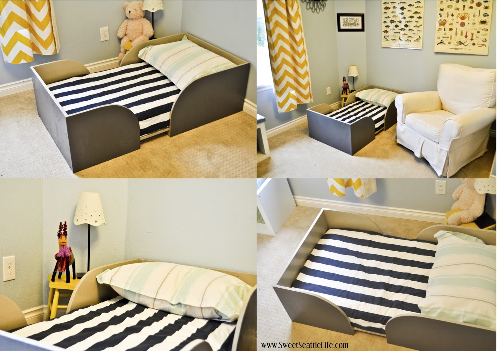 Best ideas about Kids Bed DIY . Save or Pin Chris and Sonja The Sweet Seattle Life DIY Toddler Bed Now.
