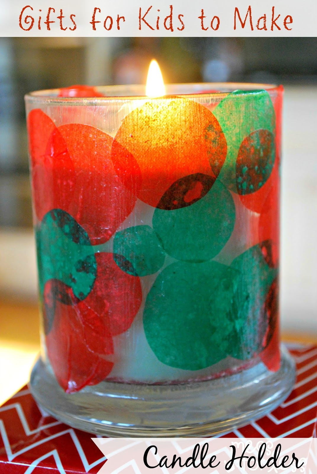 Best ideas about Kids Christmas Craft Gifts . Save or Pin Kids Christmas Craft Candle Holder Mess for Less Now.