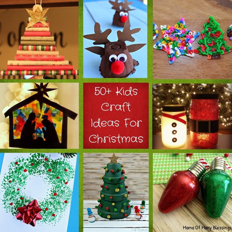 Best ideas about Kids Christmas Craft Ideas . Save or Pin 50 Awesome Quick and Easy Kids Craft Ideas For Christmas Now.