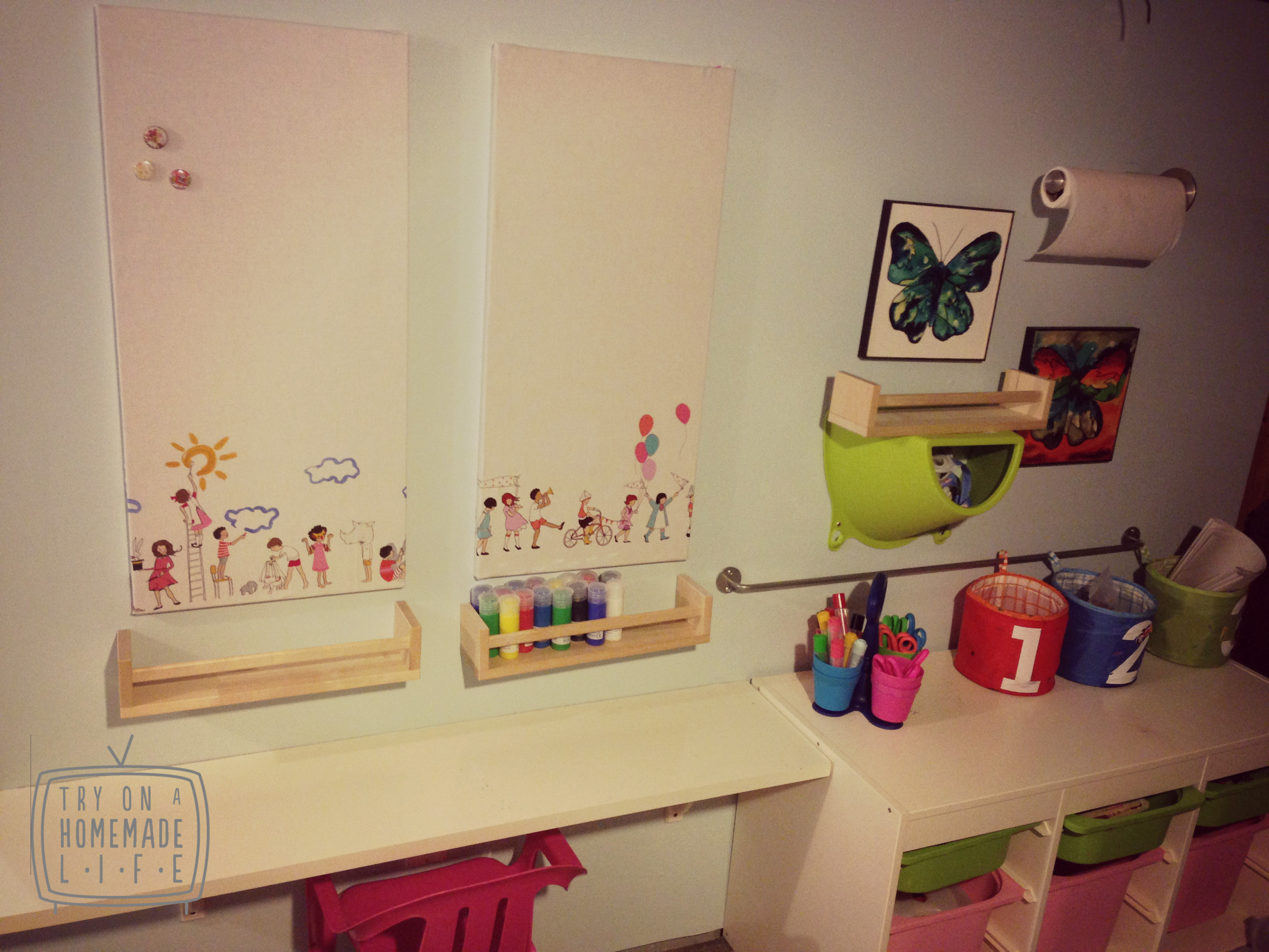 Best ideas about Kids Craft Area . Save or Pin Ikea Hack Spotan Now.