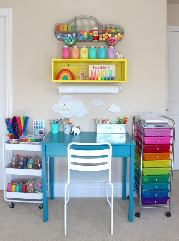Best ideas about Kids Craft Area . Save or Pin Beautiful Kids Art Centers to Encourage Creativity Now.
