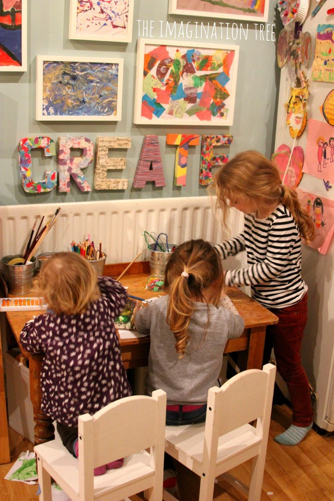 Best ideas about Kids Craft Area . Save or Pin Creative Arts Area and Gallery for Kids The Imagination Tree Now.