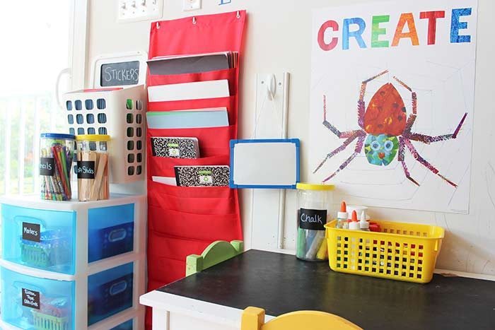 Best ideas about Kids Craft Area . Save or Pin How to Organize Kids Art Supplies in a Small Space Now.