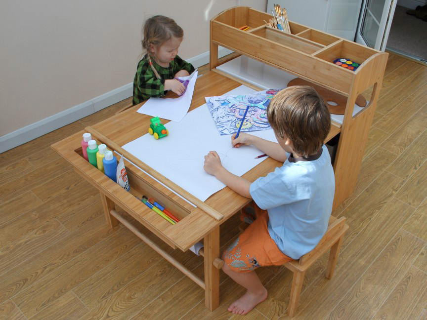 Best ideas about Kids Craft Area . Save or Pin Childrens Table and Two Chairs Arts and Crafts Activity Now.