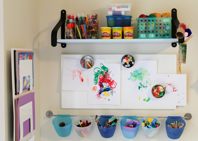 Best ideas about Kids Craft Area . Save or Pin DIY Creativity Center Toddler Friendly & Baby Proof Now.