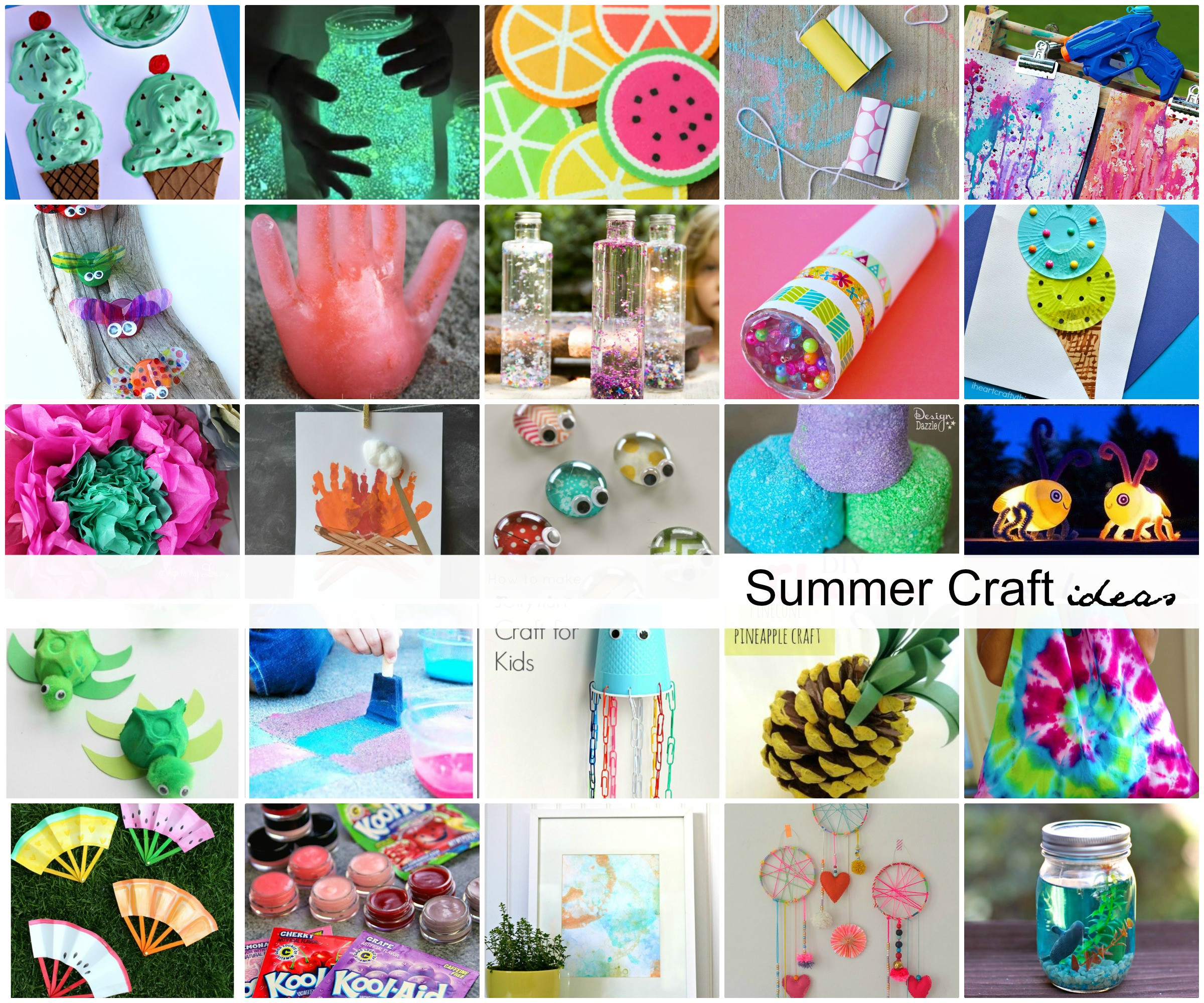 Best ideas about Kids Craft Ideas . Save or Pin Summer Craft Ideas for Kids The Idea Room Now.