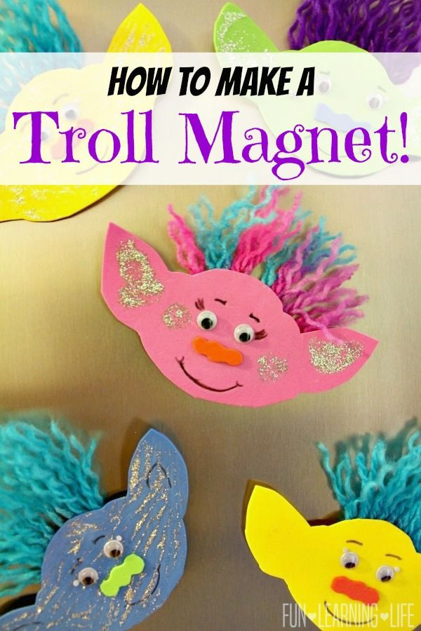 Best ideas about Kids Craft Ideas . Save or Pin How To Make A Troll Magnet and Get Interactive With Trolls Now.