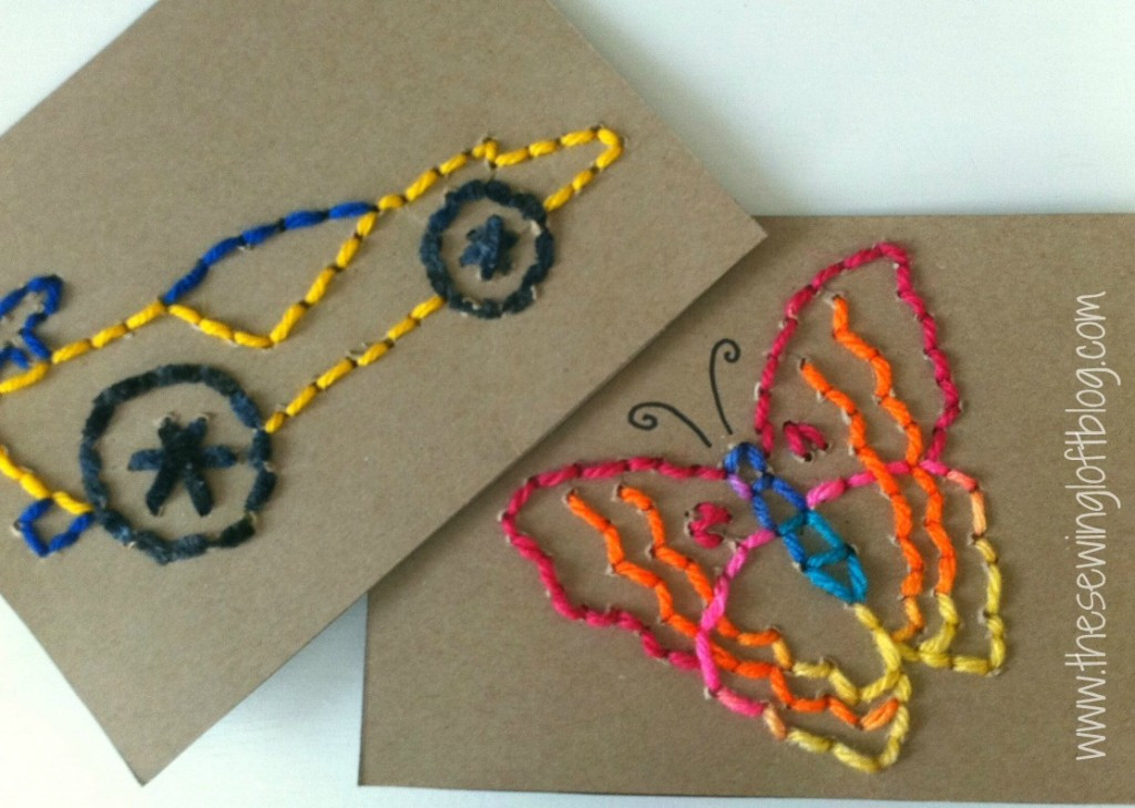 Best ideas about Kids Craft Projects . Save or Pin Easy Stitch Cards for Busy Hands Now.