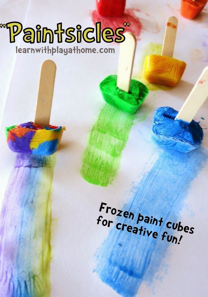 Best ideas about Kids Creative Activities At Home . Save or Pin Paintsicles Activity from Learn with Play at Home kids Now.