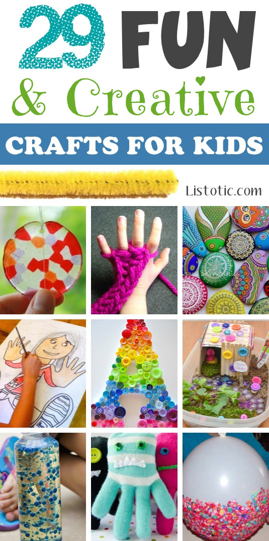 Best ideas about Kids Creative Activities At Home . Save or Pin 29 The BEST Crafts For Kids To Make projects for boys Now.