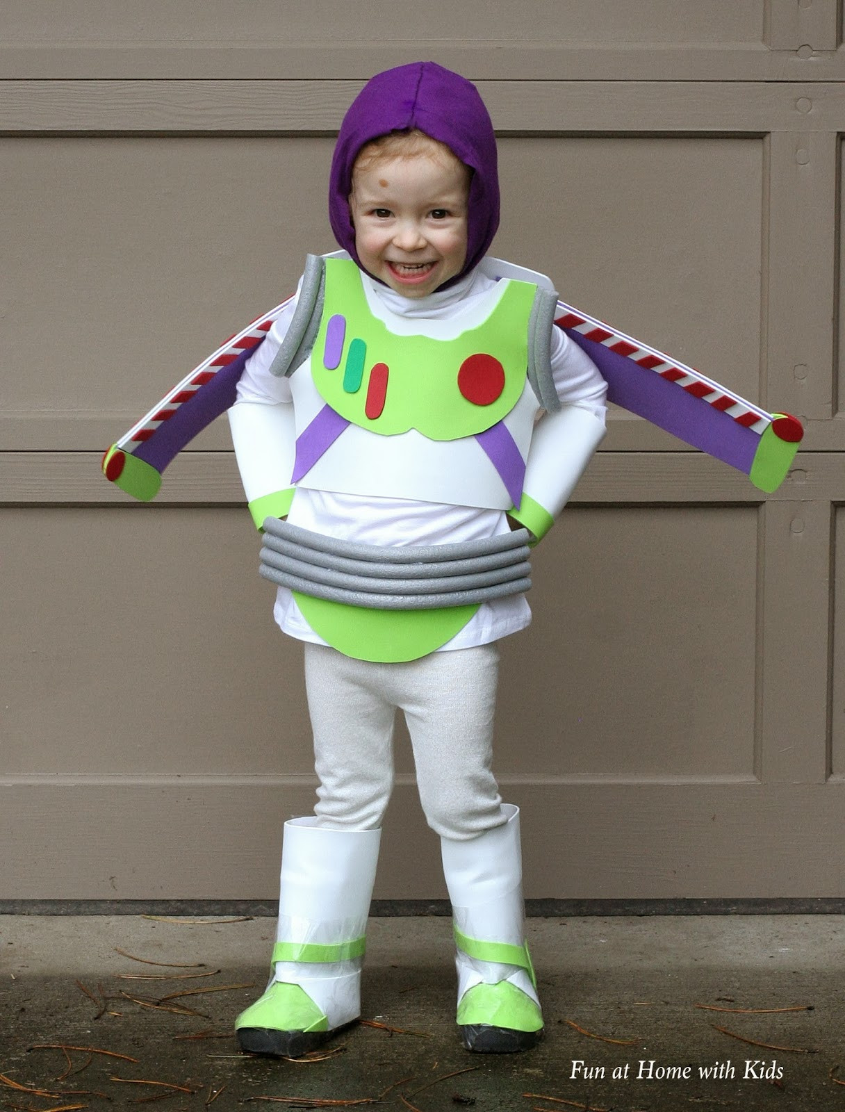 Best ideas about Kids DIY Costume . Save or Pin DIY Kids Buzz Lightyear No Sew Halloween Costume Now.