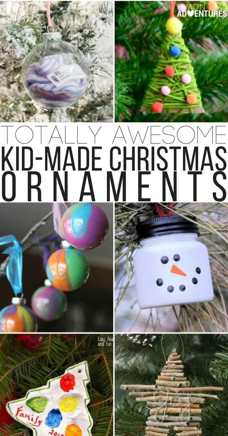 Best ideas about Kids DIY Ornaments . Save or Pin Totally Awesome Kid Made Christmas Ornaments Now.