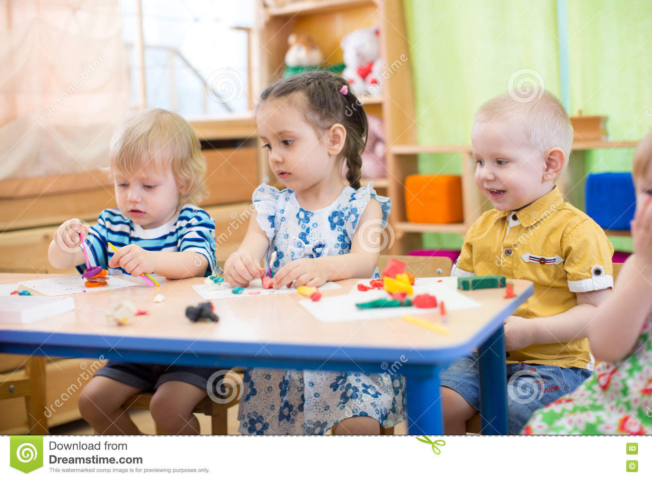 Best ideas about Kids Doing Arts And Crafts . Save or Pin Kids Doing Arts And Crafts In Day Care Centre Stock Image Now.