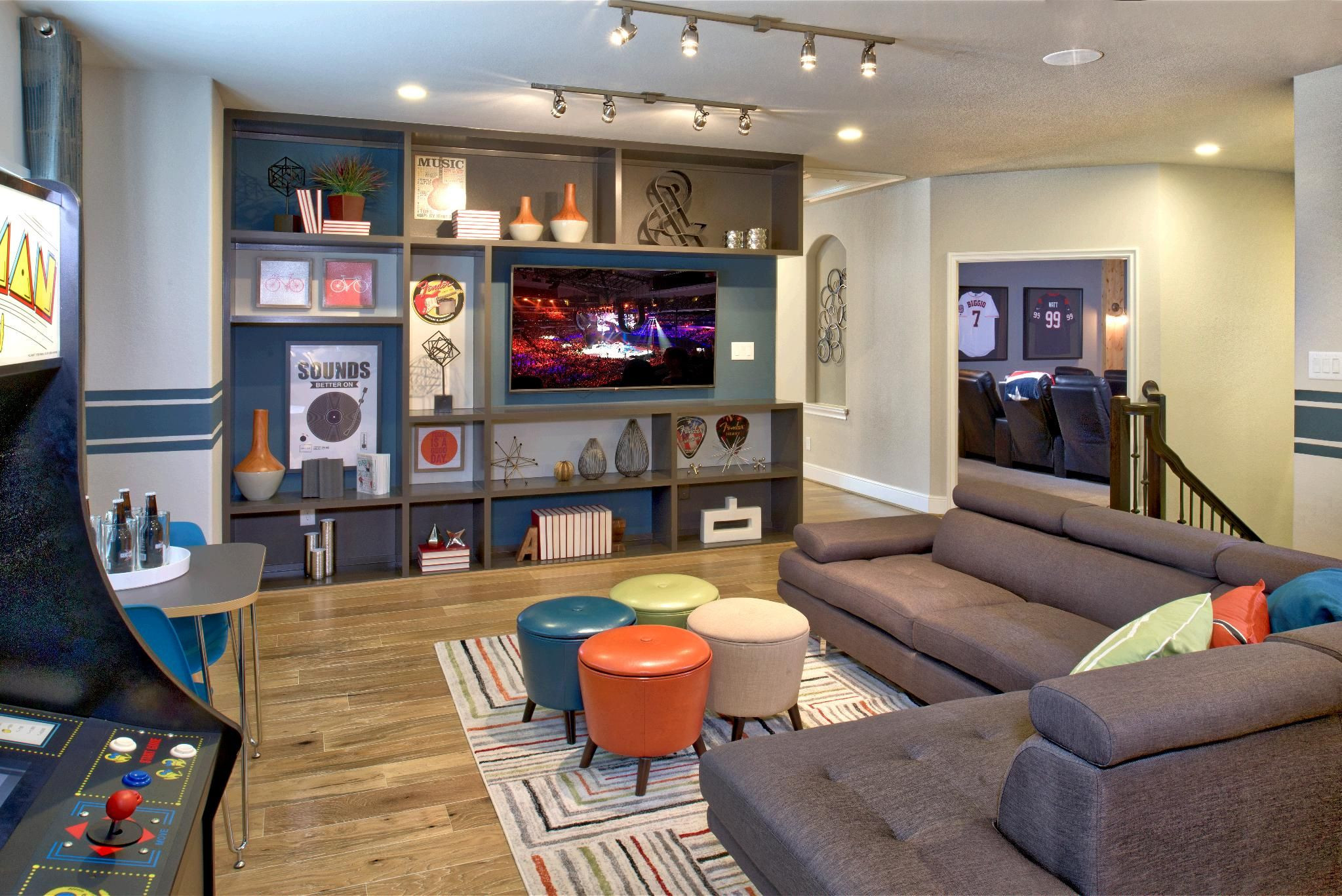 Best ideas about Kids Game Room Ideas . Save or Pin Kick back and relax with some friends in this game room Now.