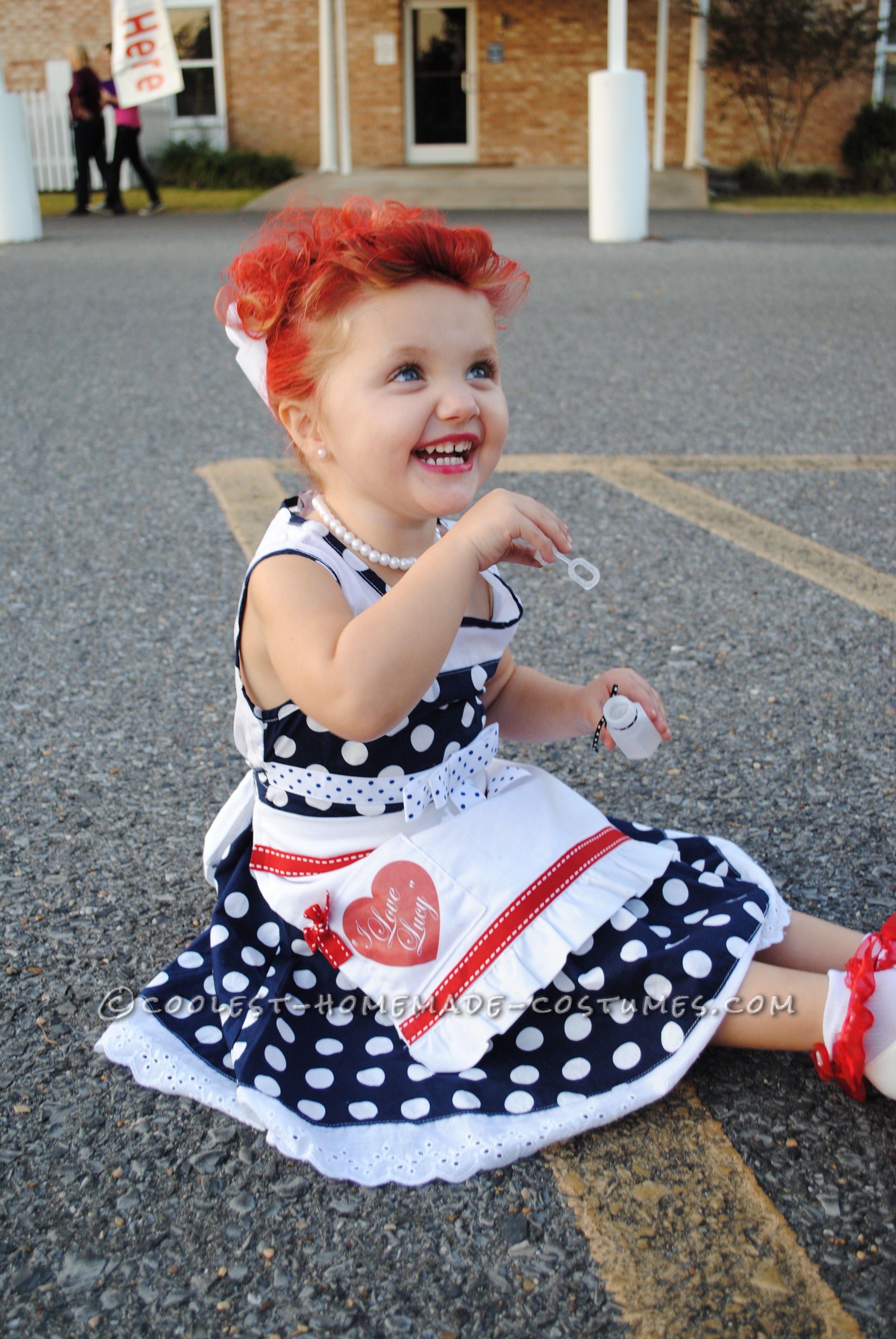 "Best ideas about Kids Halloween Costumes DIY . Save or Pin Adorable ""I Love Lucy"" Homemade Costume for a Toddler Now."