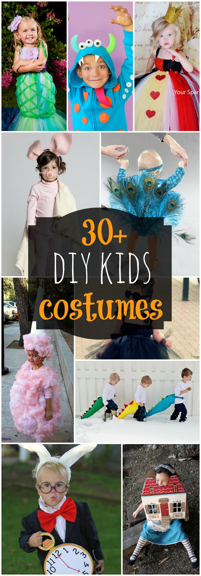 Best ideas about Kids Halloween Costumes DIY . Save or Pin 50 DIY Halloween Costume Ideas Lil Luna Now.