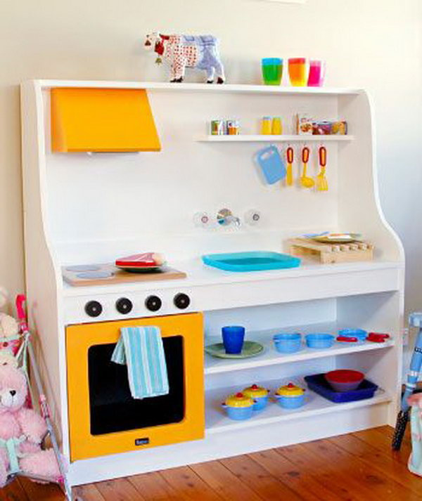 Best ideas about Kids Kitchen DIY . Save or Pin 25 DIY Play Kitchen Ideas & Tutorials Cool Gifts for Now.