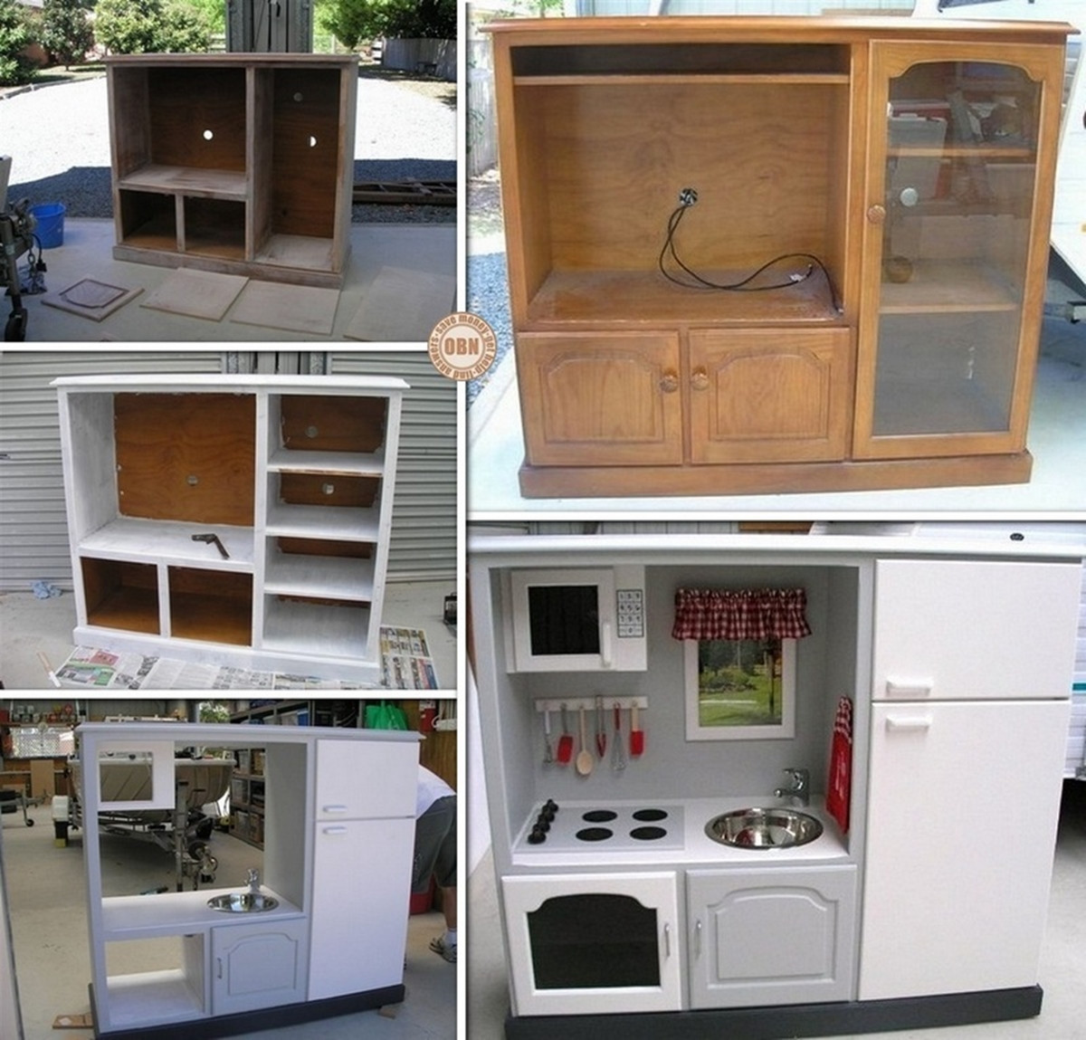 Best ideas about Kids Kitchen DIY . Save or Pin Wonderful DIY Kids Play Kitchen from Old Nightstand Now.