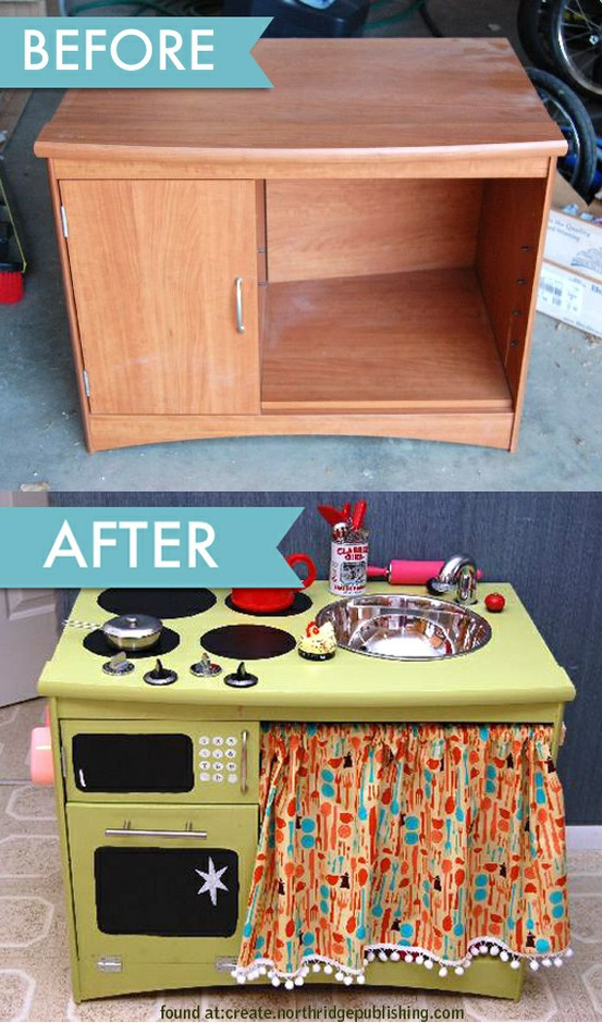 Best ideas about Kids Kitchen DIY . Save or Pin Upcycle Us Upcycling furniture into kids toys Now.