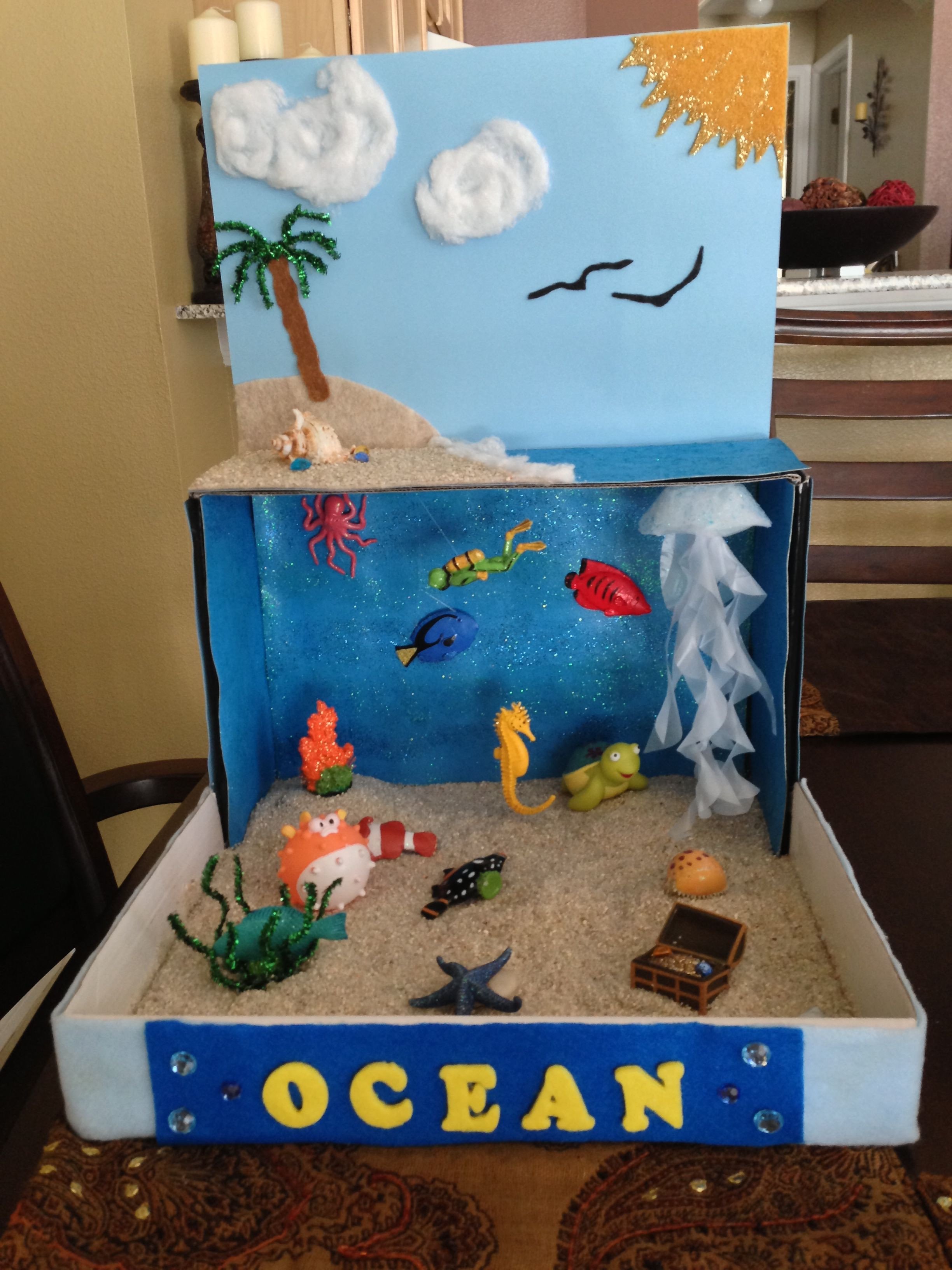Best ideas about Kids Project Ideas . Save or Pin Ocean diorama for school project Idea for Henry 2nd Now.