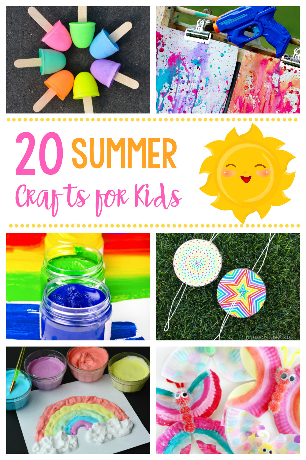 Best ideas about Kids Project Ideas . Save or Pin 20 Simple & Fun Summer Crafts for Kids Now.