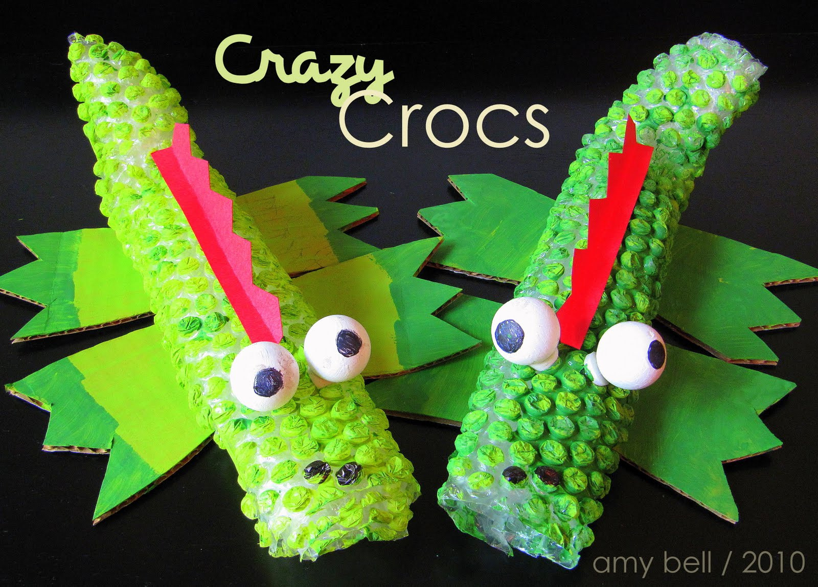 Best ideas about Kids Project Ideas . Save or Pin Bubble Wrap Crocodile Kids Craft Now.