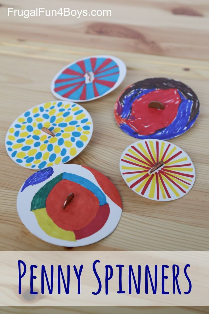 Best ideas about Kids Project Ideas . Save or Pin Penny Spinners Toy Tops that Kids Can Make Now.