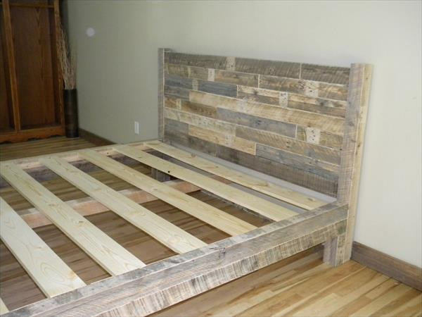 Best ideas about King Size Bed Frame DIY . Save or Pin DIY Pallet King Size Bed Now.